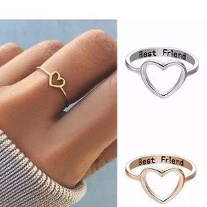 Jewelry - 3/$25 heart best friend ring jewelry friendship